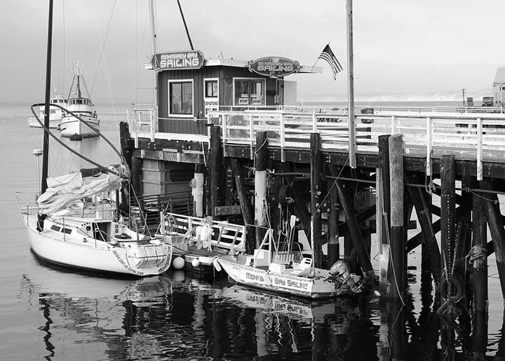 Monterey Bay boats and dock
